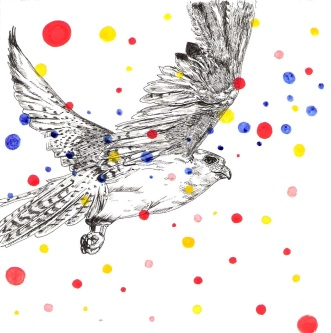 Falcon with Dots (sold)