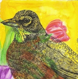 Robin (new birth) + Tulip (perfect love)