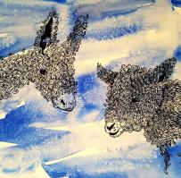 Donkey & Lamb (sold)